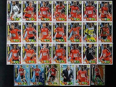 Panini Adrenalyn Xl Foot 2017 2018 - Rennes 27 Cartes Neuves Dont Update & El