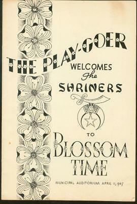 The Play-Goer Apr 1947 Welcomes The Shriners To Blossom Time