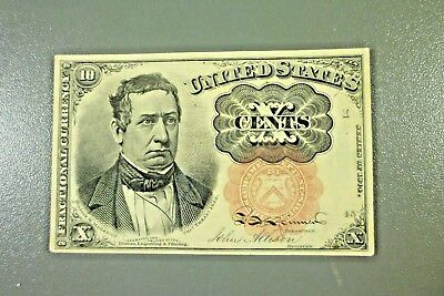 1874 Series 10c Fractional Currency 5th Issue Banknote Ten Cents AU