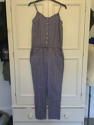 Johnnie B Blue Floral Cotton Jumpsuit Age 13 - 14 Years