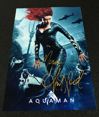 Aquaman Amber Heard Mera Autograph Signed Movie Poster Re-Print A4 size