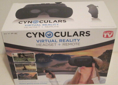 Cynoculars Virtual Reality Headset Plus Remote As Seen On Tv