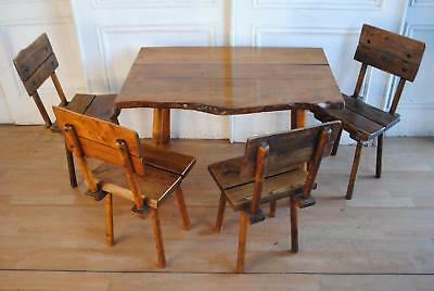 Rare Vintage French Estate Winery Dining Setting Farmhouse - Garden Outdoor