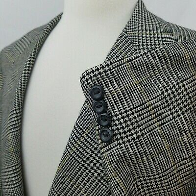 Oxxford Clothes 40R Pure CASHMERE Prince of Wales Check 2 Btn Sport Coat Blazer
