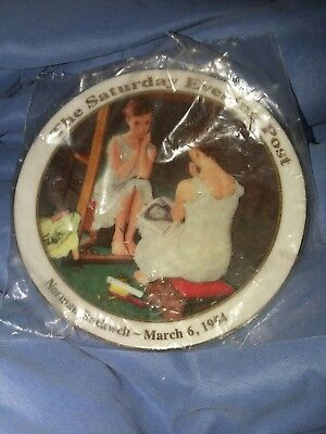 """Norman Rockwell Decorative Plate """"Girl at Mirror"""" Saturday Evening Post 1954"""