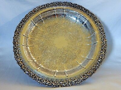 Vintage Hardy Bros Brothers Sheffield Reproduction Silver Plated Fruit Bowl Dish