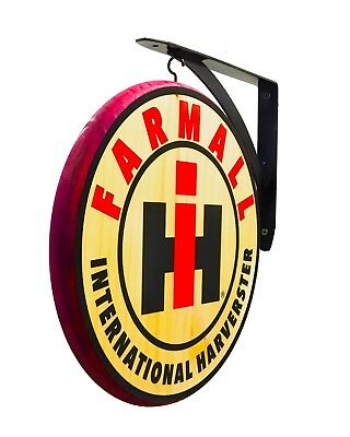 """INTERNATIONAL HARVESTER FARMALL Double-sided 12"""" Dia. Wall Hanging Sign"""