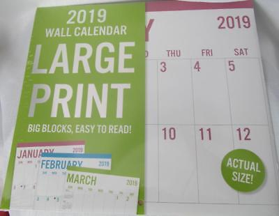 2019 Wall Calendar 12 month Large Print Mix and Match to Save