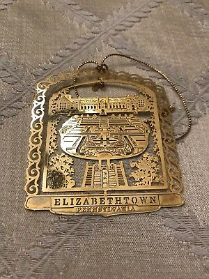 Masonic Homes Elizabethtown PA Gardens Gold color Christmas Ornament