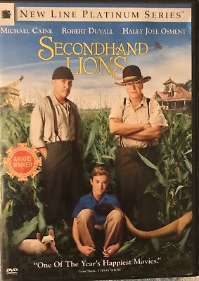 Secondhand Lions DVD Family Movie Night Funny Comedy Heart Felt Film Kids Gift