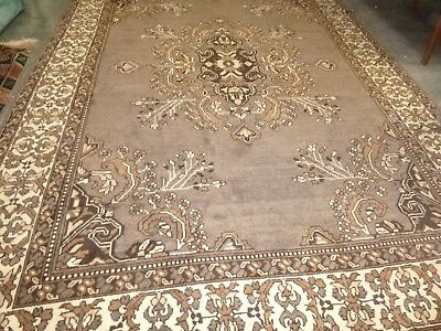 PERSIAN ANTIQUE HAND KNOTTED WOOL TRIBAL RUG. LARGE SIZE 342cm x 242cm