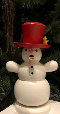 Smoker Snowman Holzkunst Christian Ulbricht Incense Burner Germany