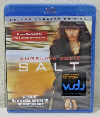 Salt (Blu-ray Disc, 2010, Deluxe Unrated Edition) BRAND NEW>FREE SHIPPING!