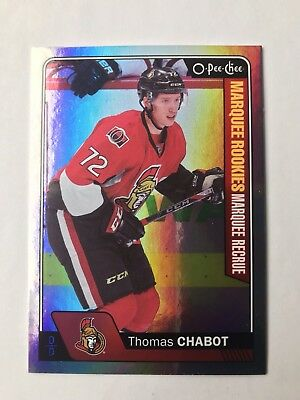 2016-17 OPC Update Thomas Chabot Marquee Rookie Rainbow #683