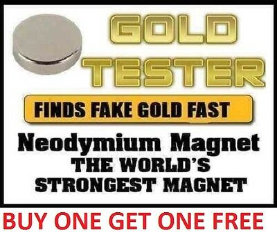 Neodymium Rare Earth Magnet for Testing Scrap Gold, -10mm