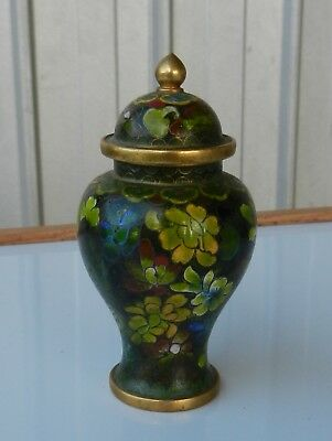 Cloisonne Lidded Urn Antique Asian