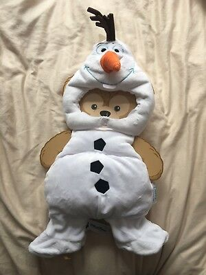 HKDL Hong Kong Disney Duffy Plush Olaf Costume Outfit Clothes Frozen ANNA Elsa
