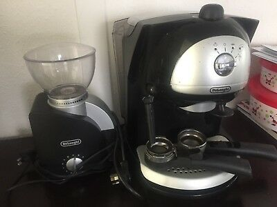 DeLonghi Expresso / Cappuccino Coffee Machine + Bean Grinder