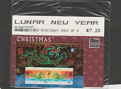Lunar New Year. Mint Unhinged Mini Sheet Pack of 8 Stamps.  See Photo.