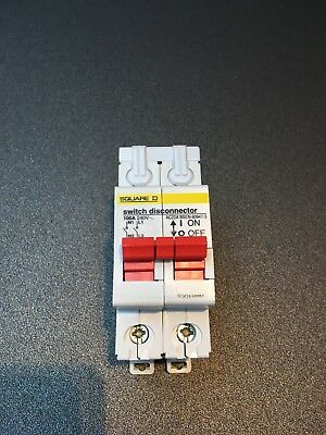 Square D 100 Amp Main Switch Disconnector  Double Pole SQO1100M