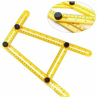 Practical Multifunctional Four Folding Metric Scale Measuring Angle ABS Ruler BF