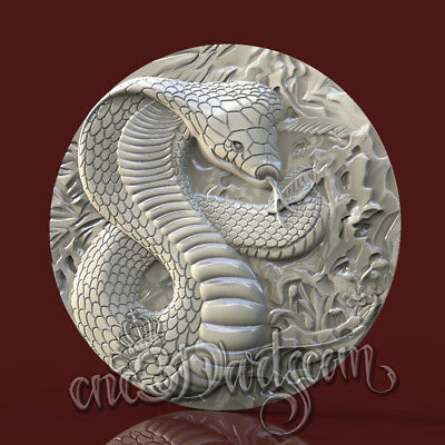 3D Model STL for CNC Router Artcam Aspire Snake Round Panel Cut3D Vcarve