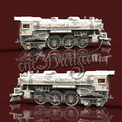 3D Model STL for CNC Router Artcam Aspire Train Locomotive 4 Axis Cut3D Vcarve