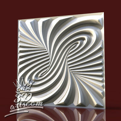 3D Model STL CNC Router Artcam Aspire Wall Panel Tornado Tile Decor Cut3D Vcarve