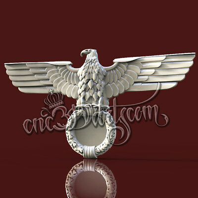3D Model STL for CNC Router Artcam Aspire Germany SS Eagle Panel Cut3D Vcarve