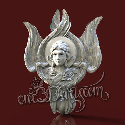 3D Model STL for CNC Router Artcam Aspire Religion Cherub Panel Cut3D Vcarve