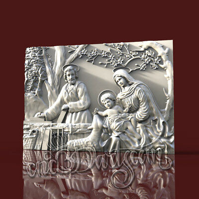 3D Model STL for CNC Router Artcam Aspire Religion Biblical Panel Cut3D Vcarve