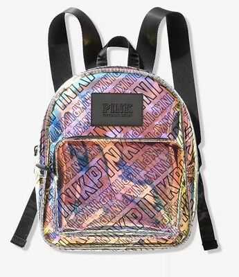 94945b34808 VICTORIA S SECRET PINK Metallic Crackle Mini City Backpack - £45.00 ...