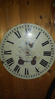 REALLY OLD cLOCK FACE antique  clock face