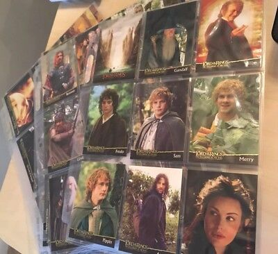 Complete Set Lord Of The Rings Topps Cars All 3 Films Must See!
