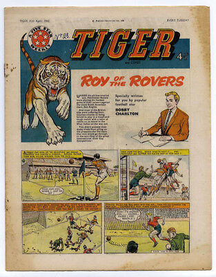 Tiger 30th April 1960 (Olac the Gladiator, Roy of the Rovers, Jet-Ace Logan)