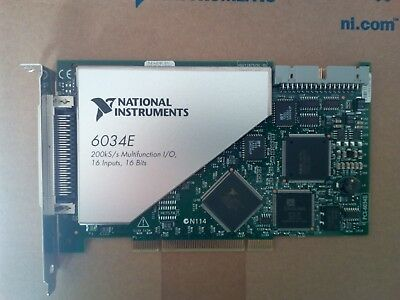 National Instruments 6034E data acquisition card