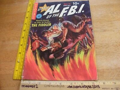 Little Al of the FBI 11 VG 1950s comic book HTF painted fire cover SCARCE
