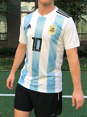 competitive price 35e05 57c5f LIONEL MESSI HOME Jersey 2018 World Cup Argentina #10 Soccer Mens - Size  Medium
