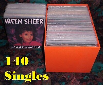 140 Single Sammlung 60er - 90er (deutsch) incl. Single-Box - ideal für Musikbox