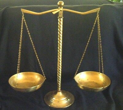 Scales of Justice Vintage Bronze or Brass