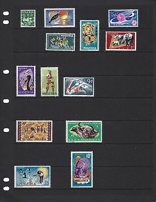 Nigeria-1965-Set With High Denominations-Mint-