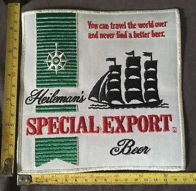 Heileman's Special Export Beer Large Patch Black Sailboat New