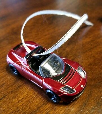 TESLA SpaceX Elon's Red Space X Roadster CHRISTMAS TREE ORNAMENT! Free Shipping!