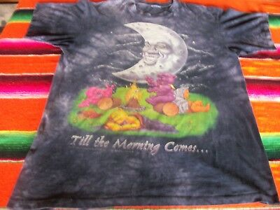 Vintage Grateful Dead 95 Till the Morning Comes XL T Shirt Camping w Moon& Bears