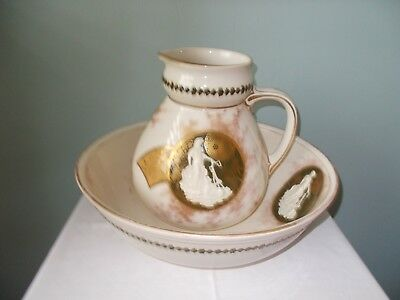 Royal Doulton Wash Basin Bowl & Jug set Vintage Antique 1883  fabulous unique