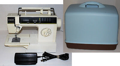 Vintage SINGER 6212 Sewing Machine with Blue Carrying Case