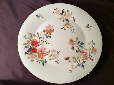 Vintage Royal Vale bone china 10.5 inch  flowered dinner plate with gold rim
