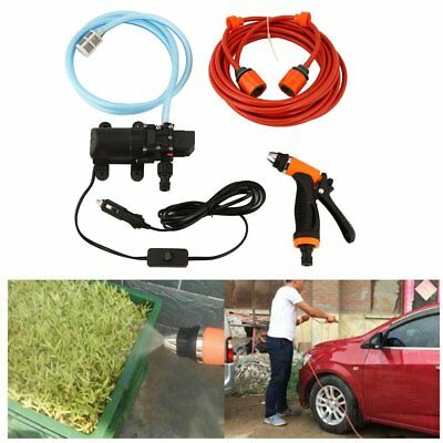 Portable High Pressure Car Cleaning Kit 70W 130PSI 12V DIY Auto Washing Tools TT
