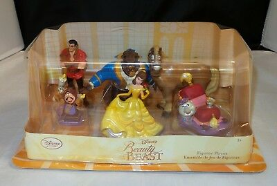 Disney Store Beauty and the Beast Figurine Playset NEW! 6 Figures!