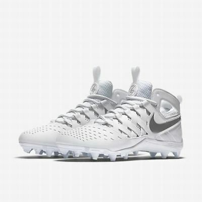pretty nice 1113e 63349 Nike Huarache V LAX white Lacrosse Football Cleats 807142-100 size 11  100